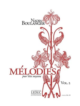 Mélodies. Volume 2 Boulanger Nadia Partition Mélodies - laflutedepan