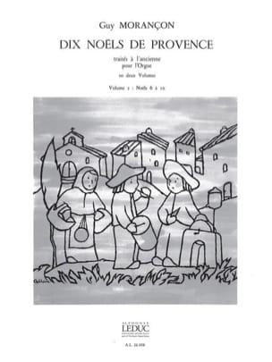 10 Noëls de Provence Volume 2 Guy Morançon Partition laflutedepan