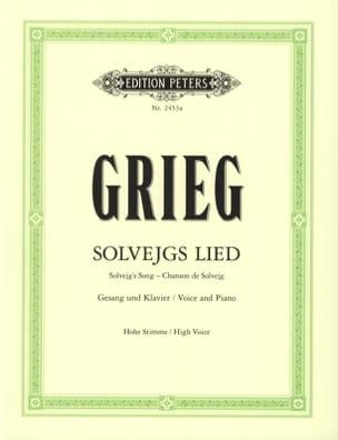 Solvejg's Song. Peer Gynt - Voix haute GRIEG Partition laflutedepan