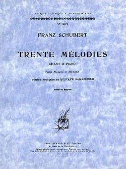 30 Mélodies. Voix Moyenne SCHUBERT Partition Mélodies - laflutedepan