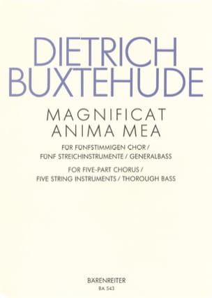 Dietrich Buxtehude - Magnificat anima mea - Partition - di-arezzo.co.uk