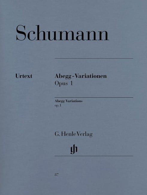 Abegg-Variationen Opus 1 - SCHUMANN - Partition - laflutedepan.com