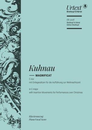 Magnificat en Do majeur Johann Kuhnau Partition Chœur - laflutedepan