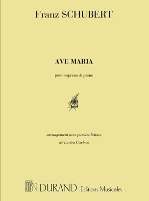 Ave Maria Opus 52-6. Voix haute SCHUBERT Partition laflutedepan