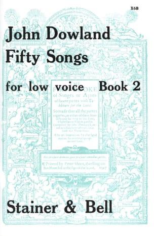 50 Songs. Voix Grave Volume 2 DOWLAND Partition laflutedepan