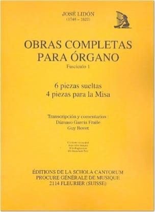 Obras Completas Volume 1 - José Lidon - Partition - laflutedepan.com