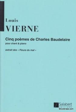 Cinq poèmes Op. 45 VIERNE Partition Mélodies - laflutedepan