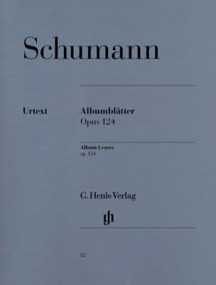 Albumblätter Opus 124 SCHUMANN Partition Piano - laflutedepan