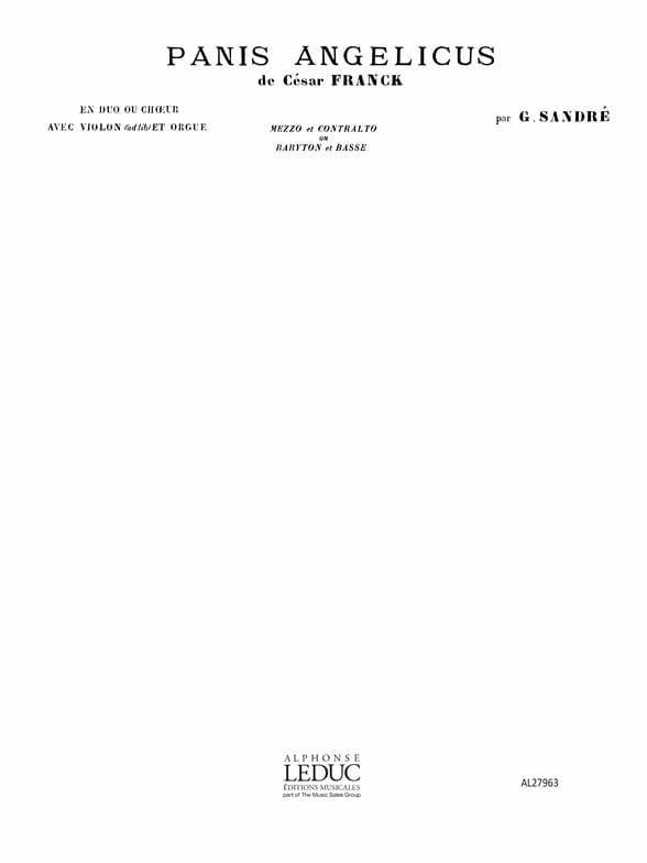 Panis Angelicus. Mezzo et Contralto - FRANCK - laflutedepan.com