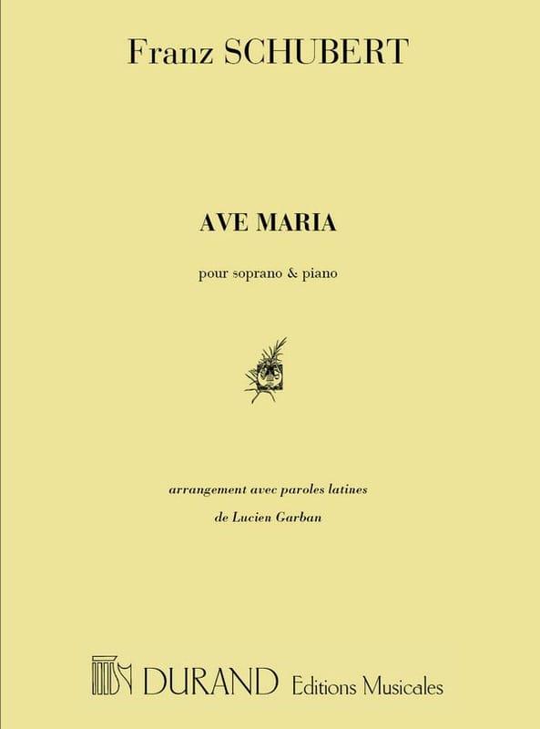 Ave Maria Opus 52-6. Voix haute - SCHUBERT - laflutedepan.com
