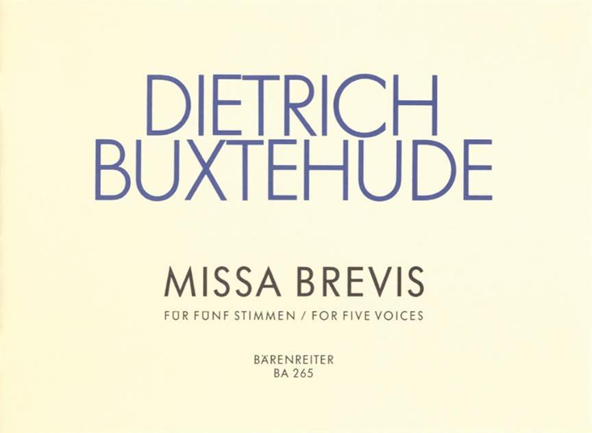Missa Brevis Kyrie Und Gloria - BUXTEHUDE - laflutedepan.com
