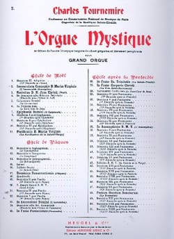 Immaculée Conception. Orgue Mystique 2 Charles Tournemire laflutedepan