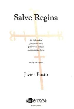 Salve Regina Javier Busto Partition laflutedepan