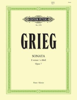 Edward Grieg - Sonata In E Minor Opus 7 - Partition - di-arezzo.co.uk