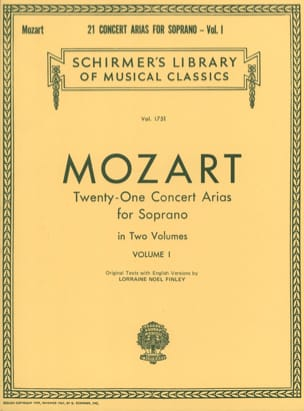 MOZART - 21 Soprano Concert Airs Volume 1 - Partition - di-arezzo.co.uk