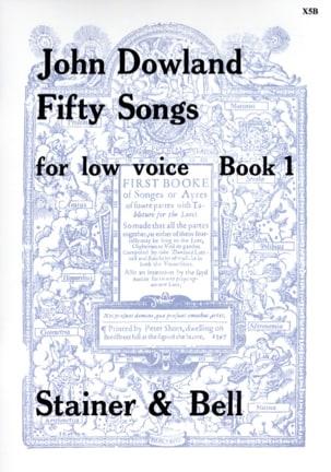 50 Songs Voix Grave Volume 1 DOWLAND Partition Mélodies - laflutedepan