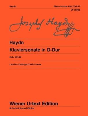 Sonate Pour Piano En Ré Majeur. Hob. 16-37 HAYDN laflutedepan
