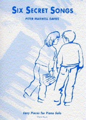 6 Secret Songs Davies Maxwell Partition Piano - laflutedepan