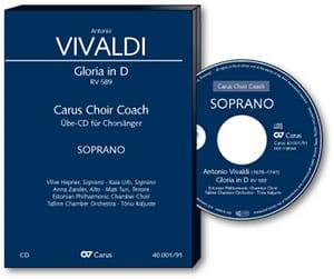 Gloria RV 589. CD. Alto CHOEUR VIVALDI Partition Chœur - laflutedepan