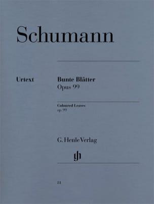 Bunte Blätter Opus 99 SCHUMANN Partition Piano - laflutedepan