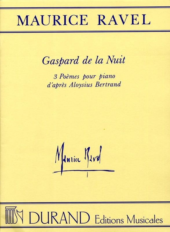 Gaspard de la Nuit - RAVEL - Partition - Piano - laflutedepan.com