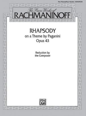 Rhapsodie Sur Un Thème De Paganini Opus 43. 2 pianos laflutedepan