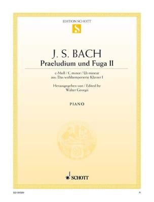 Prélude et Fugue BWV 847 Do Mineur BACH Partition Piano - laflutedepan