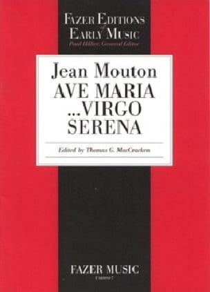 Ave Maria...Virgo Serena - Jean Mouton - Partition - laflutedepan.com