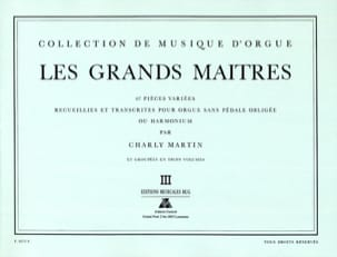 Les Grands Maitres Volume 3 Partition Orgue - laflutedepan