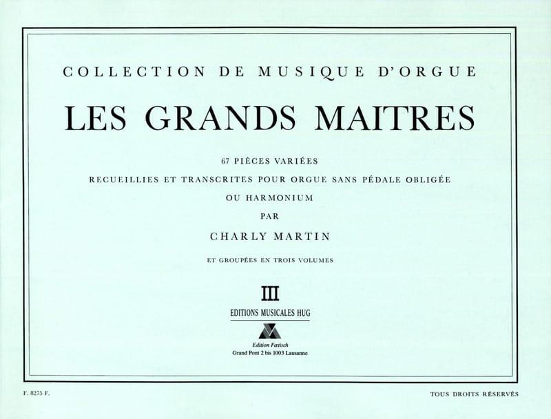 Les Grands Maitres Volume 3 - Partition - Orgue - laflutedepan.com