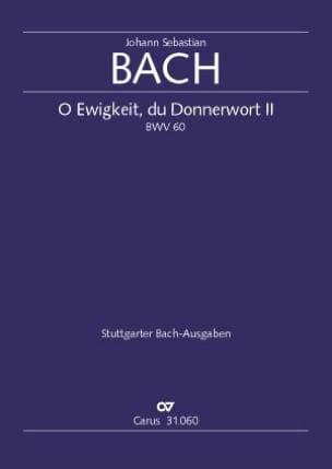 Cantate 60 O Ewigkeit, Du Donnerwort. Conducteur BACH laflutedepan