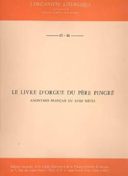 Le Livre D'orgue Du Père Pingré Partition Orgue - laflutedepan