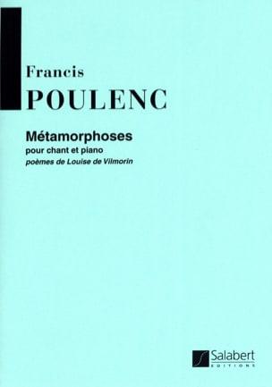 Métamorphoses POULENC Partition Mélodies - laflutedepan