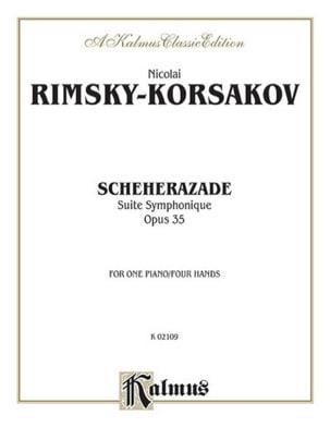 Scheherazade Opus 35. 4 Mains RIMSKY-KORSAKOV Partition laflutedepan
