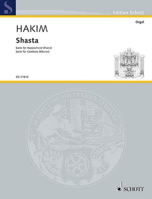Shasta Naji Hakim Partition Clavecin - laflutedepan