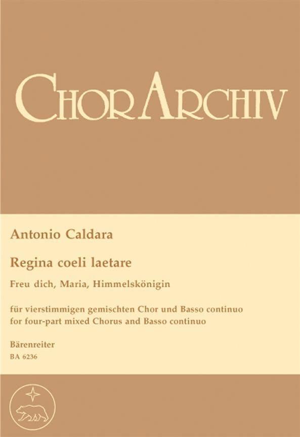 Regina Coeli Laetare - CALDARA - Partition - Chœur - laflutedepan.com