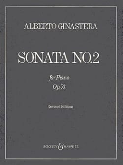 Sonate Pour Piano N° 2 Opus 53 GINASTERA Partition laflutedepan