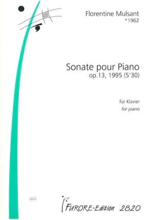 Sonate Florentine Mulsant Partition Piano - laflutedepan