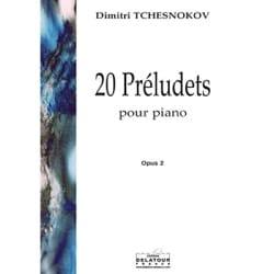 20 Préludets Op. 2 Dimitri Tchesnokov Partition Piano - laflutedepan