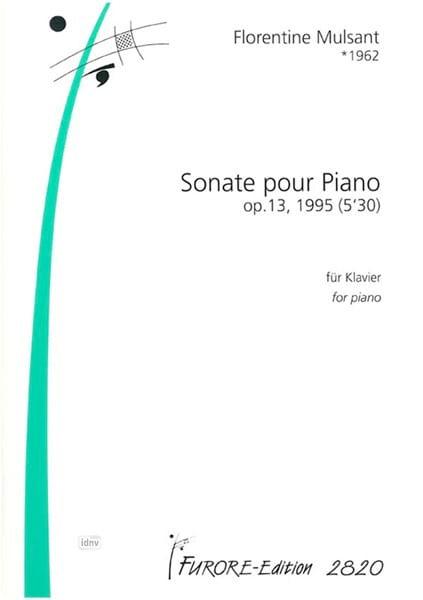 Sonate - Florentine Mulsant - Partition - Piano - laflutedepan.com