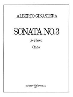 Sonate Pour Piano N° 3 Opus 55 GINASTERA Partition laflutedepan