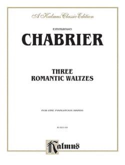 3 Valses Romantiques. 4 Mains CHABRIER Partition Piano - laflutedepan