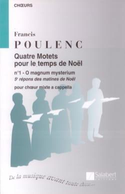 Francis Poulenc - O Magnum Mysterium - Partition - di-arezzo.co.uk