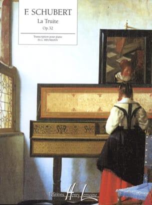 La Truite Opus 32 SCHUBERT Partition Piano - laflutedepan