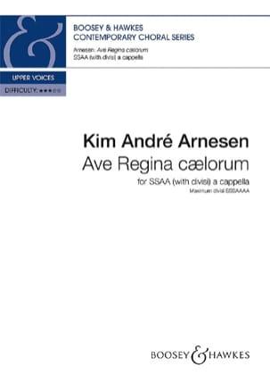 Ave Regfina Caelorum Kim André Arnesen Partition Chœur - laflutedepan