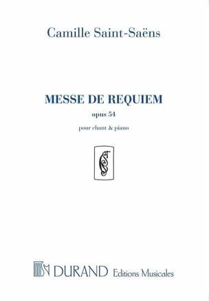 Messe de Requiem - Opus 54 SAINT-SAËNS Partition Chœur - laflutedepan
