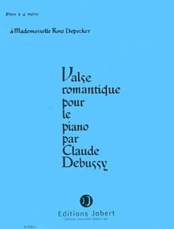 Valse Romantique. 4 Mains DEBUSSY Partition Piano - laflutedepan