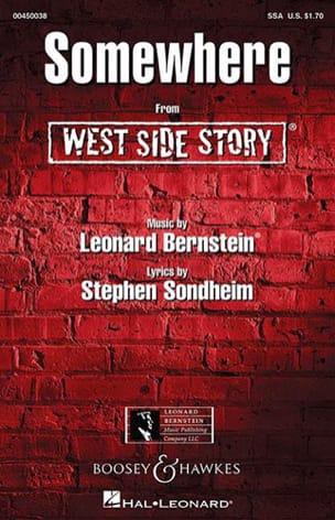 Somewhere. West side Story. SSA BERNSTEIN Partition laflutedepan