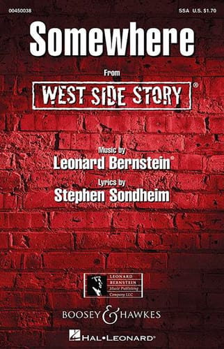 Somewhere. West side Story. SSA - BERNSTEIN - laflutedepan.com