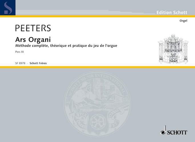 Ars Organi Bd 3 Orgel Schule - Flor Peeters - laflutedepan.com